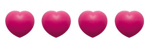Zak Designs 0896-530 Jacks Coeur Boite de 4 Dessous de Plats Modulables Coeur Fuchsia