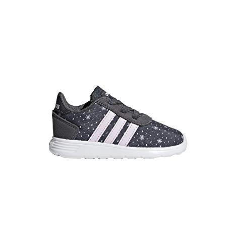 Adidas Lite Racer INF, Zapatillas de Deporte Unisex para Niños, (Grisei/Aerorr/Blanub 000), 23 EU