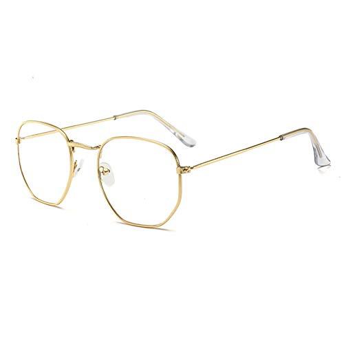 1d9939e817 LLLM Gafas de sol Clásico Gafas de Sol hexagonales Reflectantes Mujeres  Hombres Gafas de Marco de