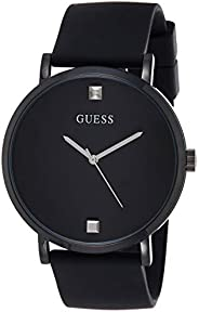GUESS Mens Quartz Watch, Analog Display and Silicone Strap W1264G2