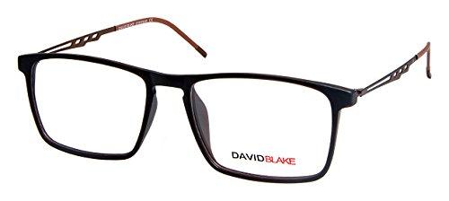 David Blake Full Rim Wayfarer Unisex Spectacle Frame - (LCEWDB62010048J-BRN03|52)