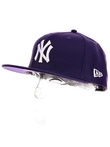 New Era Erwachsene Baseball Cap Mütze Mlb Basic New York Yankees 59Fifty Fitted, Violett, 7 1/2inch -