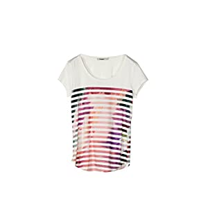 Desigual 18SWTKI9 Top e T-Shirt Donna Bianco XL