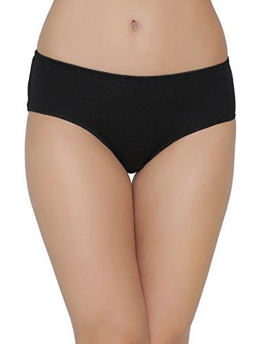 Clovia Women's Cotton Mid Waist No Panty Line Hipster (PN2302P13_Black_Medium)