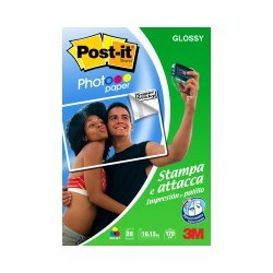 3M Photo Glossy POST-IT 20 A6 10 x 15 cm (A6) Carta fotografica