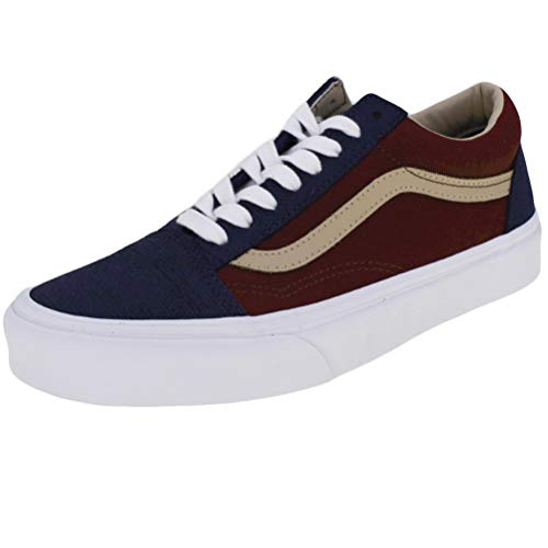 Vans Old Skool Textured Suede Trainers UK 8 Blue (Blue Vans Suede)