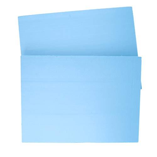 Homyl 2pcs Plaque de Mousse de Haute Densité PVC Multifonctionnel Bricolage Table de Sable Modèle 29.5x39.5x2 cm Bleu