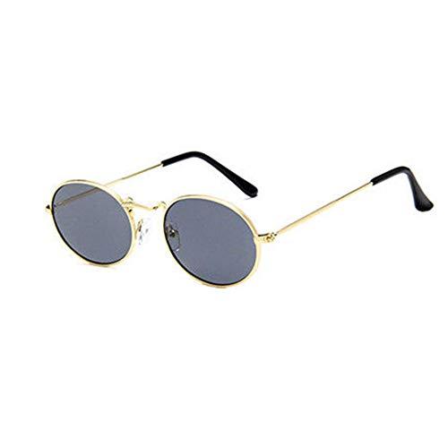 Trisee ✔ Sonnenbrille, Sonnenbrille Herren Sonnenbrille Damen Vintage Retro Oval Sonnenbrille Ellipse Metallrahmen Brille Trendy Fashion Shades Steampunk Brille Sonnenbrille Rund
