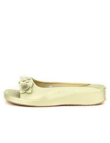 Cendriyon Mule Dorée ML Shoes Flowers Chaussures Femme