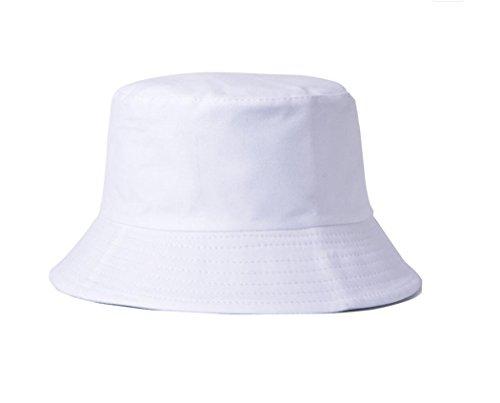 Treestar schlichter, einfarbiger Anglerhut für den Sommer, zweilagig, Unisex, 1 Stück, baumwolle, weiß, 60 cm