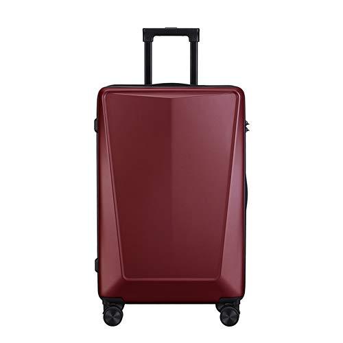 TY&GH Valise Rigide en Abs Ultra-Léger - Valise Rigide Et Légère À 4 Roues - Valise 20 Cm pour Le Transport des Bagages À Main - Unisexe - Rouge Vin,Red,20In