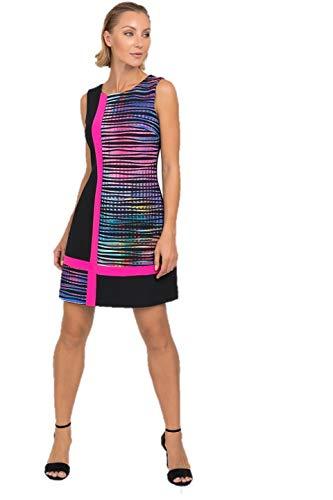 Joseph Ribkoff Black & Multicolor Knee High Dress Style - 192682 Spring Summer 2019