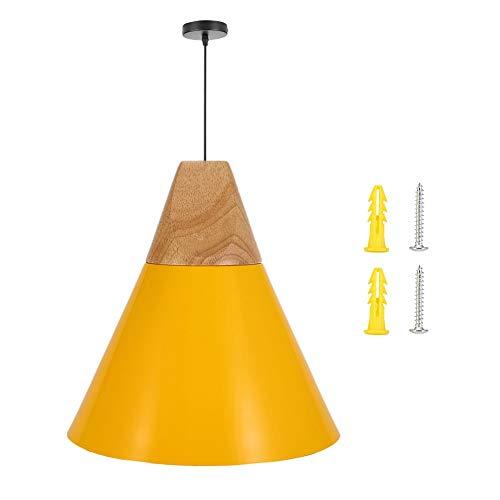 Riuty Pendelleuchte, Hängeleuchten Lampenschirm aus Aluminium, UL-gelistet, E27-Sockel, für Küche, Esszimmer, Billardtisch, Bartheke -