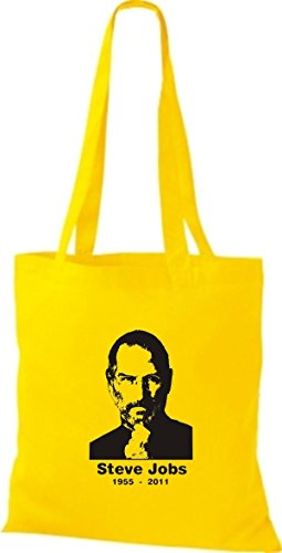 ShirtInStyle Stoffbeutel Steve Jobs in Memory of Baumwolltasche Beutel, diverse Farbe sunflower