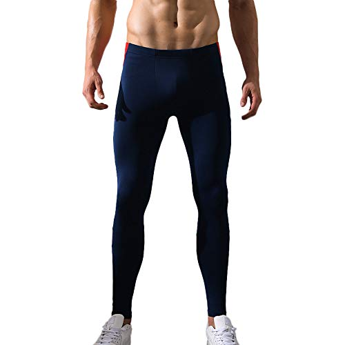 Celucke Sport Leggings Herren Laufhose Strumpfhose mit Print, Männer Funktionswäsche Fitness Hose Pro Cool Compression Tights, mit Quick-Dry-Funktion