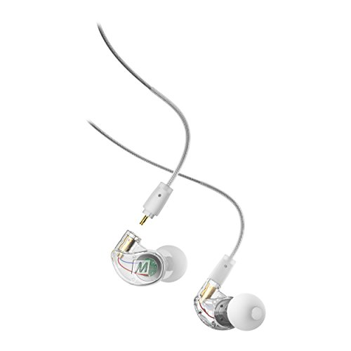 Mee Audio M6 Pro 2 nd Generation universal-fit Geräuschisolierende Musiker in-Ear-Monitore mit abnehmbarem Kabel farblos