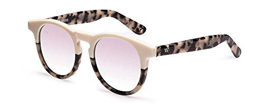 Wolfnoir Unisex-Erwachsene Hathi Ace Bicome Bone Sonnenbrille, Mehrfarbig (Blanco/Rosa Plata), 45