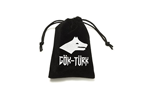 Gök-Türk Gebetskette – Tesbih 33 Perlen Tasbih 'Cukur' Türkisch schwarz silberfarben