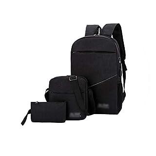 Fjl Couple Canvas Backpack School Bags Teenage Cute Set Travel Backpacks Rucksack Famous Brand Fashion,Black