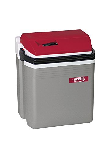 EZetil E21 Thermoelektrische Kühlbox 12V, Silber/Red