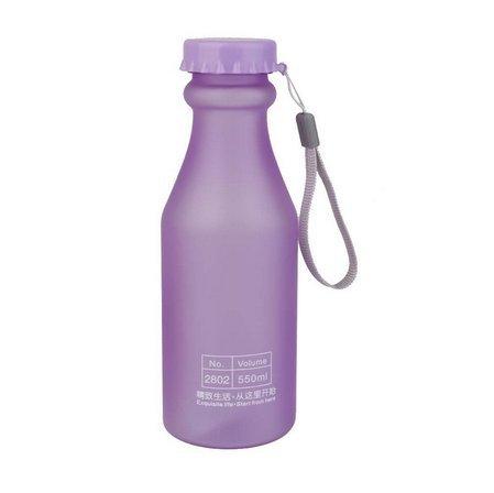 tragbare Cup Fashion Frosted Tropfsicherer Becher 550ml, violett, 6.6*20cm ()