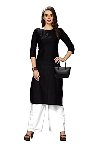 Ruchika Fashion Women's Cotton Silk Kurti (Blue,X-Large)