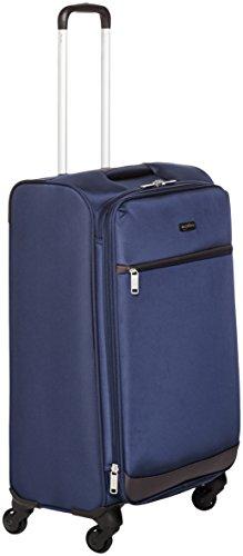 AmazonBasics - Trolley morbido con rotelle girevoli, 74 cm, Blu navy