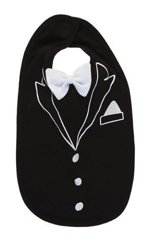 Rockabye Originals Unisex Baby Tuxedo Bib Neckerchief, Black, One Size