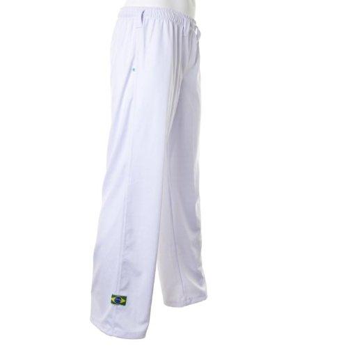 Original brasilia posto capoeira pantaloni unisex bianco arti marziali abada elasticizzati pantaloni. bianco xl