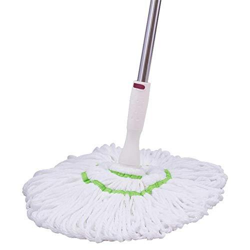 RUIRUIY Mopp Reinigungssystem Superfeine Faser Rostfreier Stahl Familie Küche Badezimmer Keramikfliesen Parkettboden, Weiß (Color : White, Size : 128X41CM)