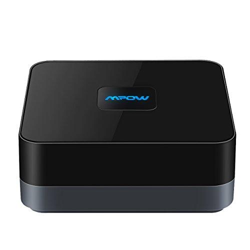 Ricevitore Bluetooth 4.1 A2DP [15 Ore di Utilizzo] Mpow Ricevitore Bluetooth A2DP Bluetooth 4.1 e Batteria Incorporata con 15 Ore di Utilizzo, Wireless Bluetooth Apparecchiature Auto Audio ad Alta Fedeltà Adattatore Bluetooth Portatile, Musica Stereo con 3,5 mm Jack Audio per iPhone 6s / iPhone 6s Plus, iphone 6 / 6 Plus, iphone 5 / 5s, ipad, LG G2, Samsung Galaxy S5 / S4 / S3 / Note 4 / Note 3 ed altri Smartphone per Sistema di Altoparlanti Auto Auto [Versione Nuova]