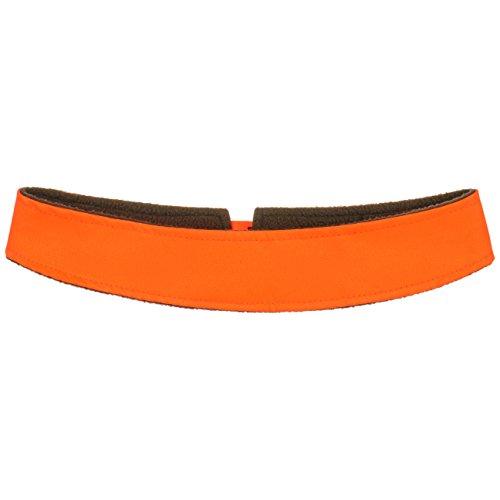 Lipodo Signalband für Hüte Damen/Herren - Hutband mit Fleecefutter Leuchtend - Reflektierendes Band für Hut auffällig - Sommer/Winter - Neonorange One Size -