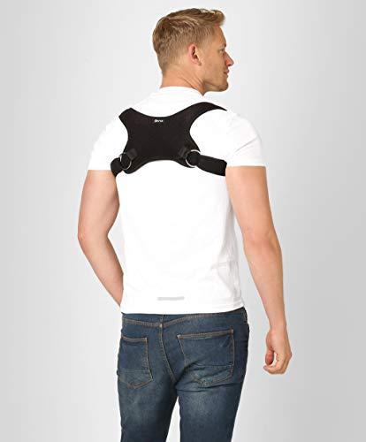 Corrector de Postura Ortopédico para la Espalda Superior BeFit24 para Hombres - Soporte de Cifosis para Hombros Caídos - Enderezador de Espalda para la Alineación de la Columna Vertebral