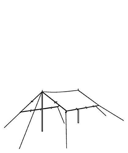 Robens Überzelt / Tarp 2,5 x 3 m grün (400) 0