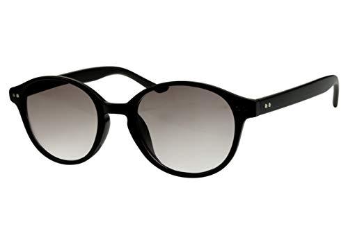 Lesebrillen mit Sonnenschutz Damen Herren schwarz rund glänzend getönt als Sonnenbrille leicht modern schmal Kunststoff 1.0 1.5 2.0 2.5 3.0, Dioptrien:Dioptrien 2.0