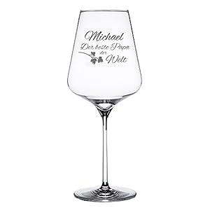 Rotweinglas mit Gravur – Bester Papa – Weinglas personalisiert mit [Namen] – Geschenke für Väter – Geschenkideen für Papa - Männergeschenke – Vatertagsgeschenke - Füllmenge: ca. 644 ml