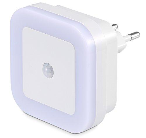 SOAIY Luce 3 Modalità con Rilevatore di Movimento Lampada orientamento presa luce a PIR sensore Lampada Wireless per Camera da Letto della Bambini Corridoio Bagno ecc (luce calda)