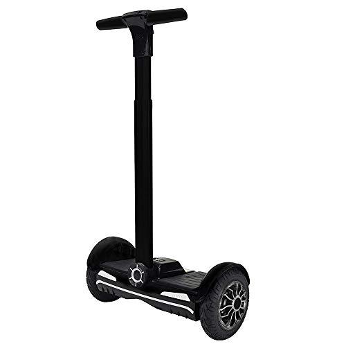 i-Bike Way Balance Board con Asta, Nero, 10'