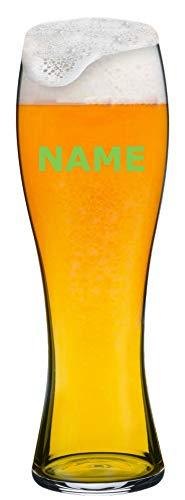 MeinGlas GmbH Weizenbierglas mit Namensgravur - Gestalten Sie EIN edles Weißbierglas von Spiegelau individuell mit einem Namen als Laser-Gravur