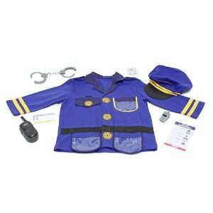 Little Police Officer Cop Role Play Costume Set M & D Toys 4835 With Sound Effects Toy / Game / Play / Child / - Lady Police Officer Kostüm