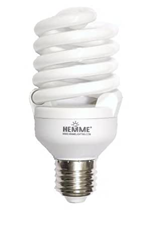 hemme 23w spiral cfl e27 cap 6500k energy saving daylight. Black Bedroom Furniture Sets. Home Design Ideas