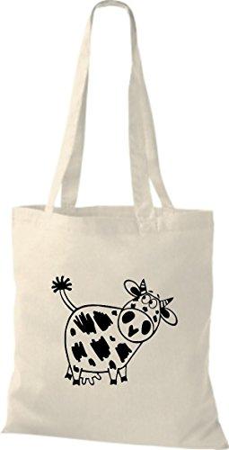 Shirtstown Stoffbeutel Tiere Kuh Natur