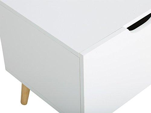 massivum Lowboard Wakefield 140x45x40 cm MDF weiß lackiert - 4