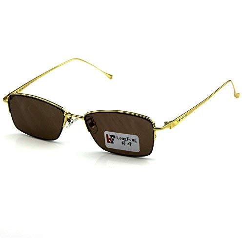 SCJ Kleine Rahmen natürlichen Kristallfelsen Spiegel der männlichen Halbrahmen Sonnenbrille Kristall Brille Titan Metalllegierung der Sonnenspiegel verteidigen müde Brille