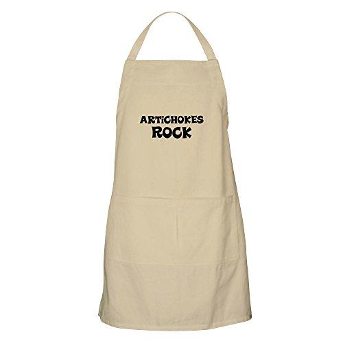 CafePress Artichokes Rock BBQ Schürze Grillschürze Khaki - Rocks Bbq