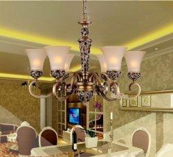 GOWE 6brazos candelabro LED luces techo lámparas