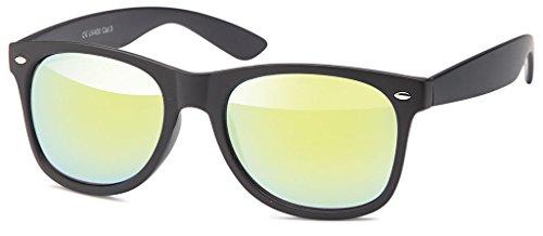 MOKIES Unisex Sonnenbrillen - UV400 Filterkategorie 3 CE Kennzeichnung - Wayfarer Design - Polycarbonat - 103 Gelb