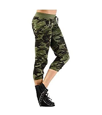 EASY4BUY® Women's Army Printed Comfort Capri(Size-M,L)