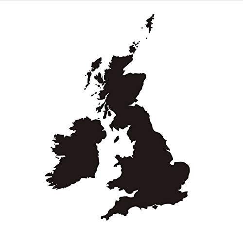 Zxfcczxf Die Großbritannien Karte Wasserdichte Wandaufkleber Wohnzimmer Pvc Abnehmbare Selbstklebende SchlafzimmerWandtattoos Wohnkultur 44 * 63 Cm