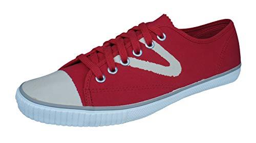 Tretorn Herren Schuhe Sneakers (Tretorn T56 Bleka Canvas Herren Turnschuhe-Red-39)